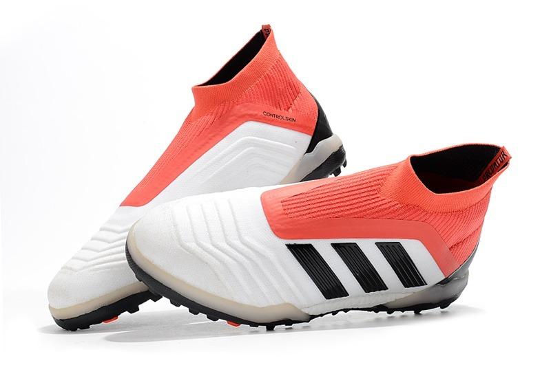 Chuteira adidas Predator 18 White+red Society Original - R  349 b87f753c2a3ed
