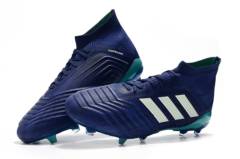 chuteira adidas predator 18.1 blue+white campo original. Carregando zoom. 15f93614e27a5
