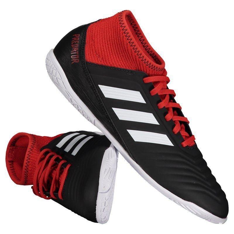0fd0d794cd chuteira adidas predator 18.3 in futsal juvenil preta. Carregando zoom.