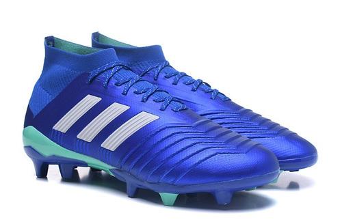 Chuteira adidas Predator 18x.1 Azul Fg + Bolsa - R  369 9e3d298832126