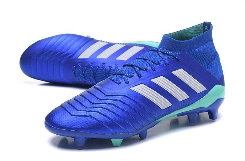 chuteira adidas predator 18x.1 azul fg + bolsa. Carregando zoom. 152e9a15c07d5