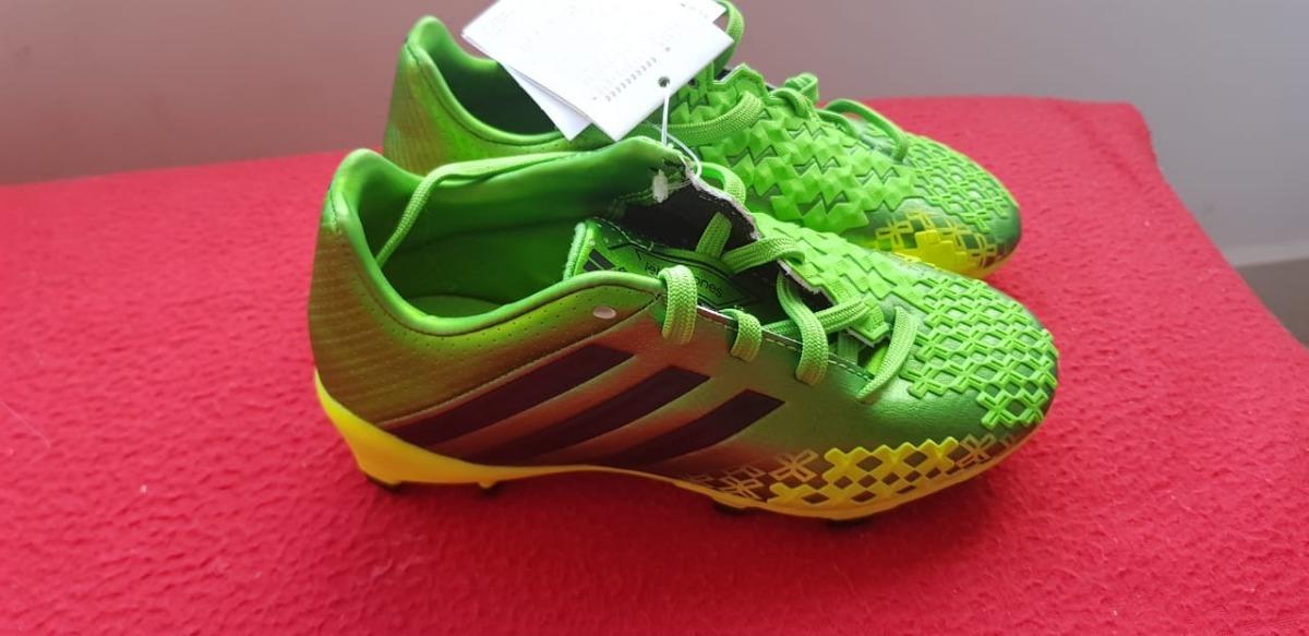 aad47fe8d7 ... chuteira adidas predator lz trx fg infantil - verde e preto. Carregando  zoom. cheaper ...