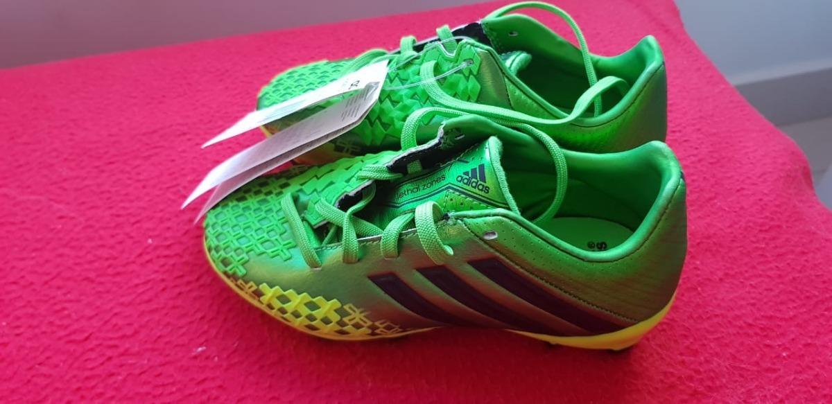 e4138a2e8a chuteira adidas predator lz trx fg infantil verde e preto original ...