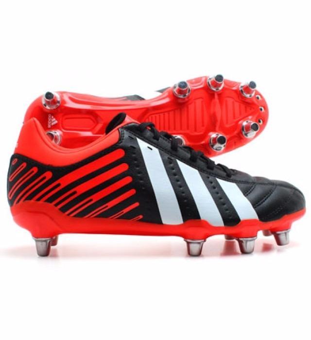 ecf57c89a0 Chuteira adidas Regulate Kakari Sg Rugby Preta vermelha Nº39 - R ...
