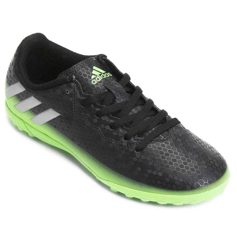 57bea32384 chuteira adidas society messi 16.4 - masculino - preto verde. Carregando  zoom.