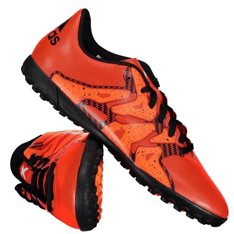 chuteira adidas x 15.4 tf society juvenil laranja. Carregando zoom. 1571b688587dd