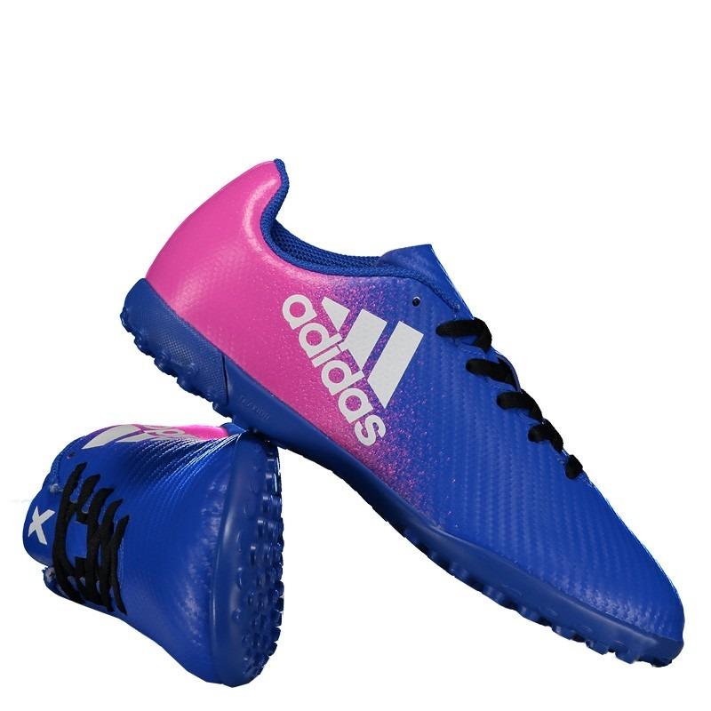 ae7ce5f13cb73 Chuteira adidas X 16.4 Tf Society Juvenil Azul - R  139