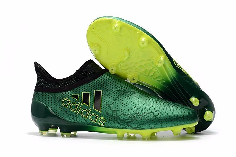 Chuteira adidas X 17+ Purechaos Fg Campo Profissional #679