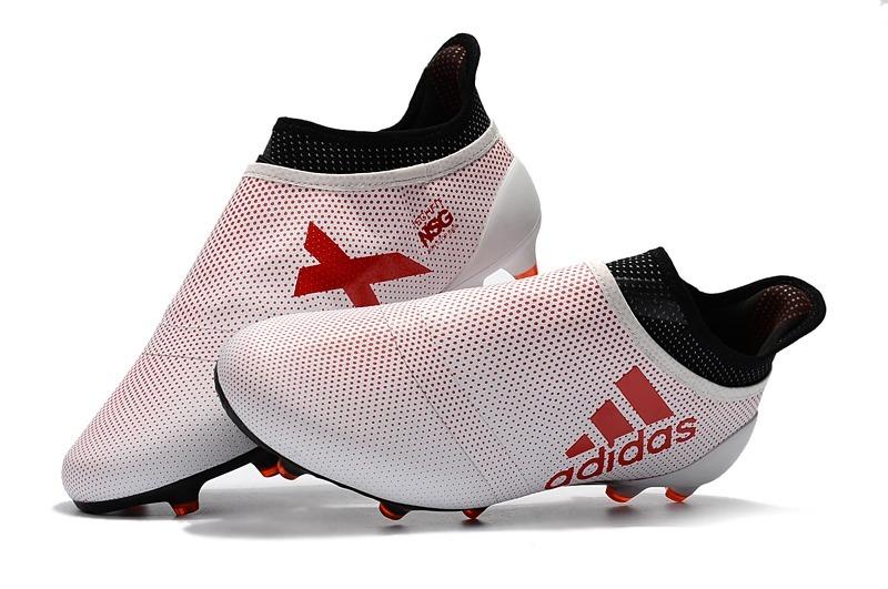chuteira adidas x 17 purespeed white + red campo original. Carregando zoom. f384217514adc