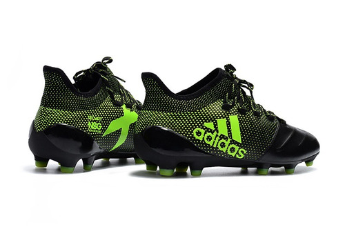 quality design ed1ec 3e53c chuteira adidas x 17.1 couro black+green original p  entre