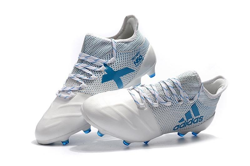 info for 7d23f 25925 chuteira adidas x 17.1 couro white+blue original pronta entr. Carregando  zoom.