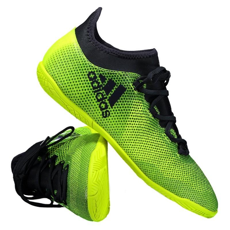 Chuteira adidas X 17.3 In Futsal Amarela Juvenil - R  239 d186bf1a259ce