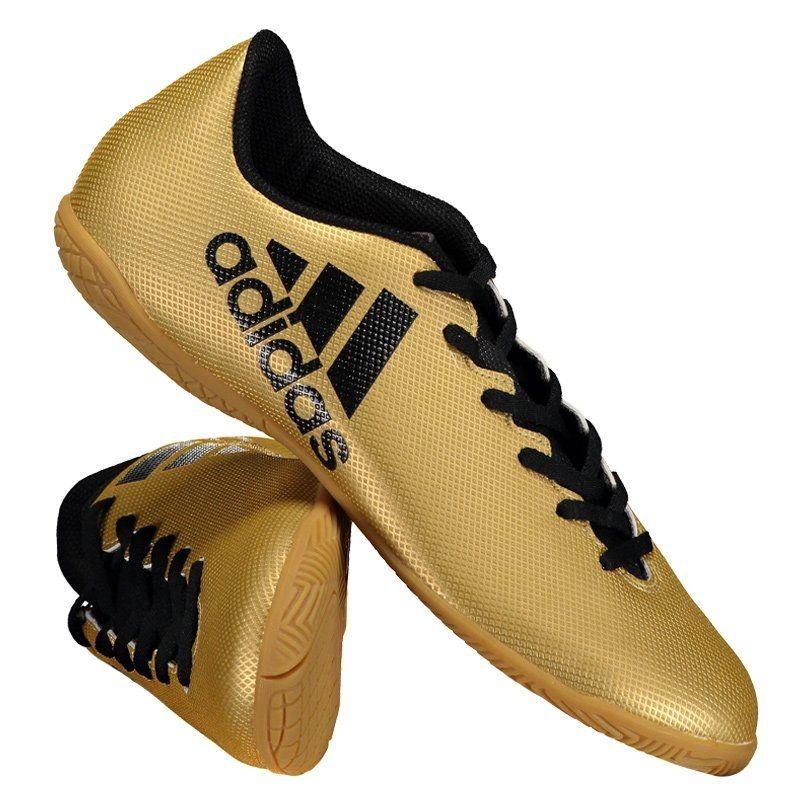 Chuteira adidas X 17.4 In Futsal Dourada - R  189 75dda070ae84a