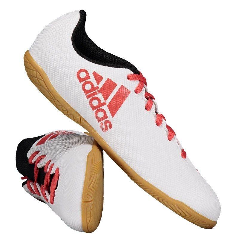 chuteira adidas x 17.4 in futsal juvenil branca e vermelha. Carregando zoom. 64faaf3741835