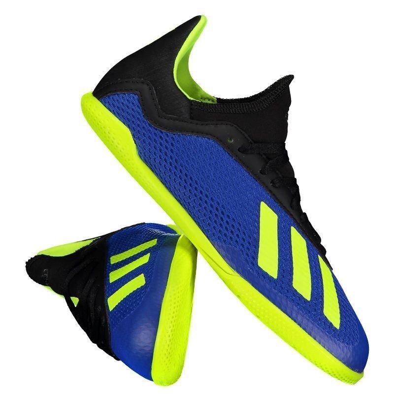 3379c09e4a124 chuteira adidas x tango 18.3 in futsal juvenil azul. Carregando zoom.