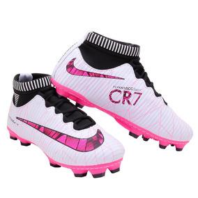 f06bfb8f6c1a8 Chuteira De Cravo Cristiano Ronaldo Cr7 Infantil Adultos - Chuteiras ...