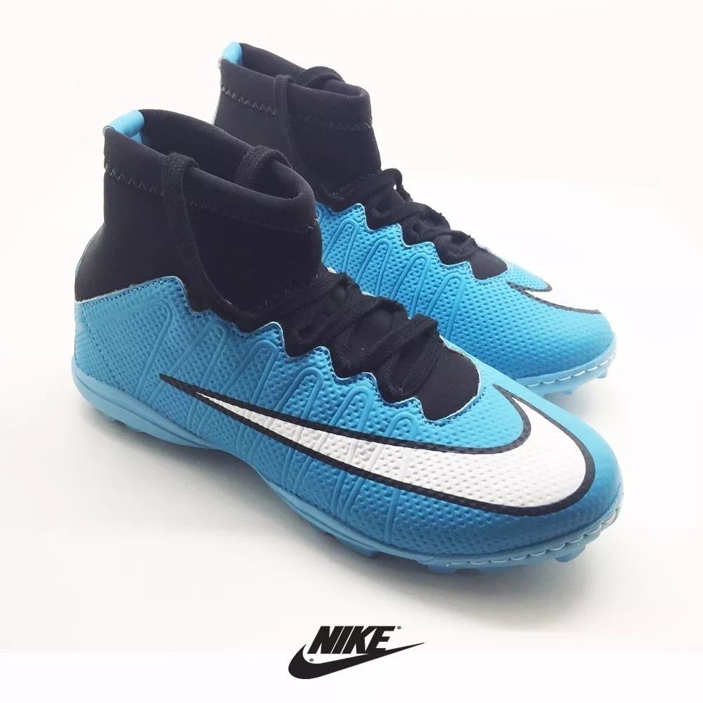 3316baab26 chuteira botinha cano alto azul futsal mercurial neymar..fg. Carregando zoom .