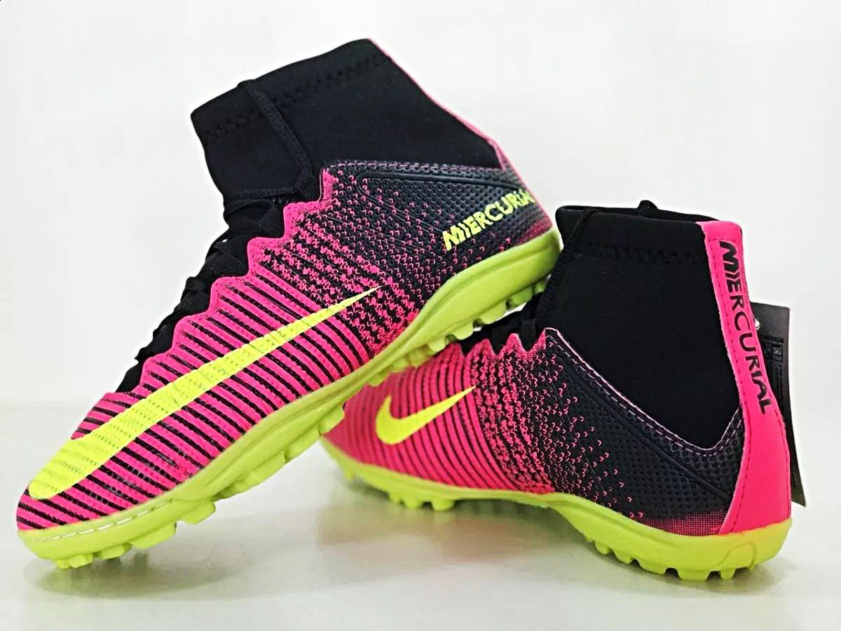 Chuteira Botinha Pink Elite Acc Vl Cano Alto Society. - R  79 2e219b6f57e29