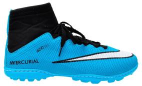 ff145fda28aec Chuteira Nike Cano Alto Infantil Cr7 Azul - Esportes e Fitness no Mercado  Livre Brasil