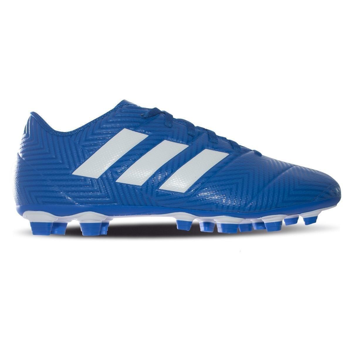 low priced 4debd aa8a6 chuteira campo adidas nemeziz 18 4 fg masculina azul branca. Carregando  zoom.