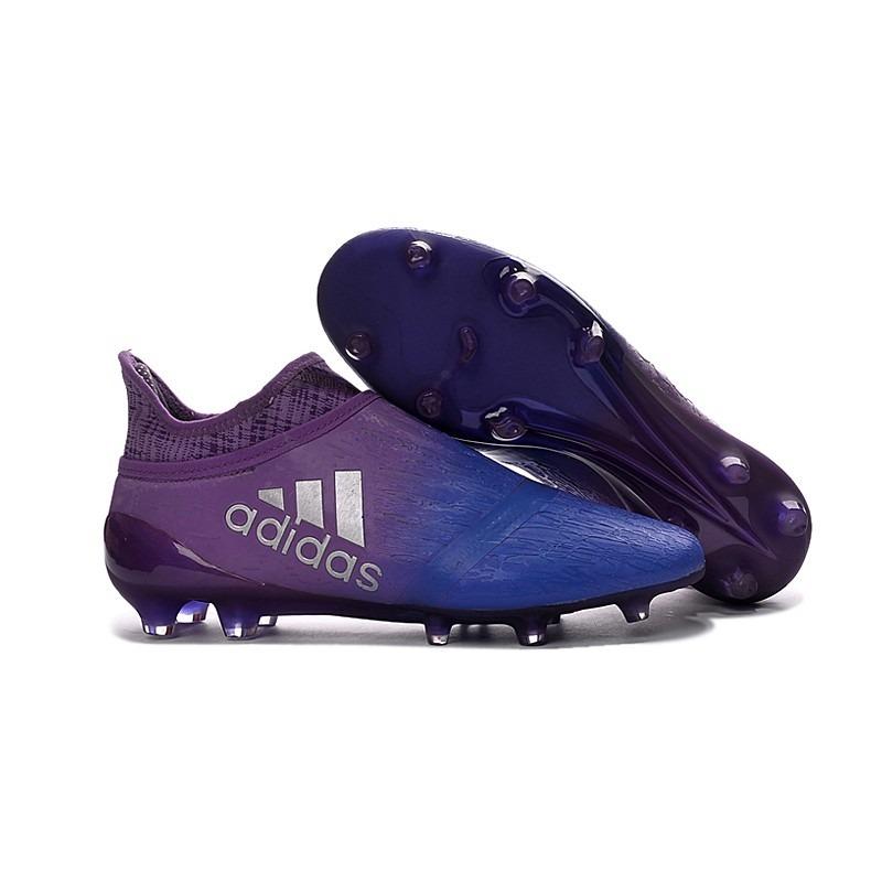05d1e62d9a Chuteira Campo adidas X 16 Purespeed Roxo E Azul Modric - R  449