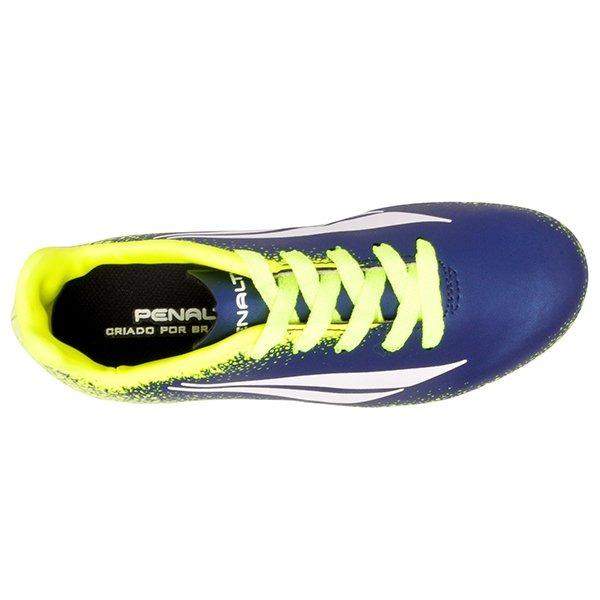 04490d7a52 Chuteira Campo Infantil Penalty Victoria Vii Azul amarelo - R  104 ...