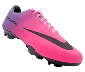 50% price outlet store new high Chuteira Campo Nike Mercurial Pink E Roxa
