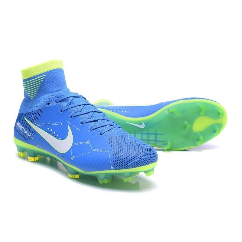 157f63045ca17 Chuteira Campo Nike Mercurial Superfly V Azul/verde Neymar - R$ 748 ...