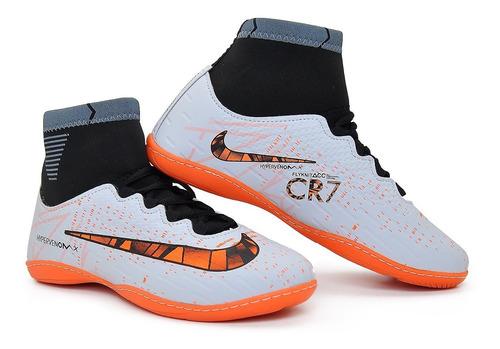 chuteira cr7  botinha futsal kids 33 ao 28