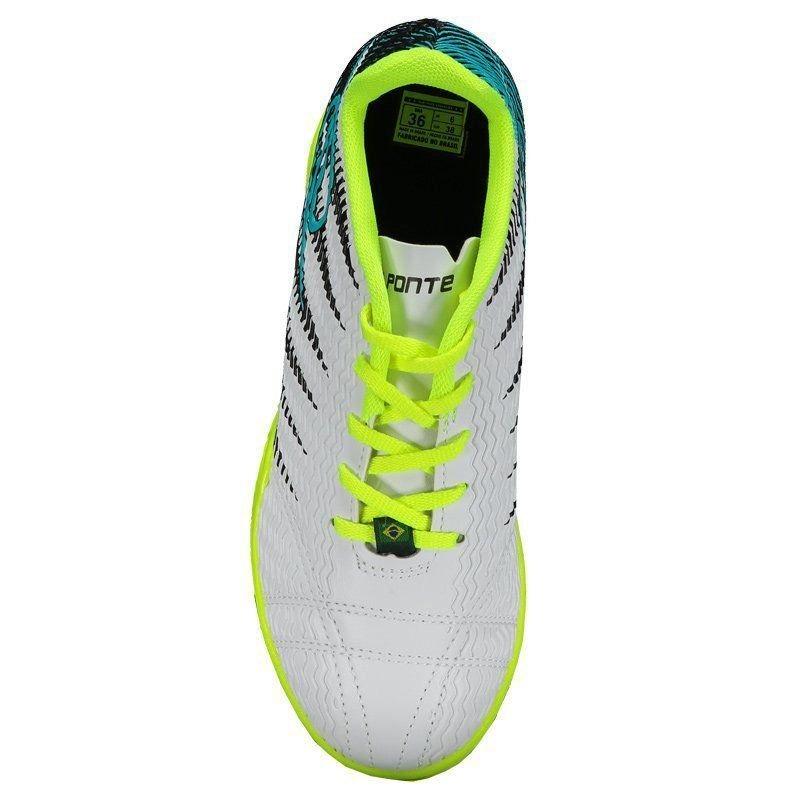 f3dd2ba4d7 Chuteira Dalponte Wembley Futsal Juvenil Branca E Turquesa - R  84 ...