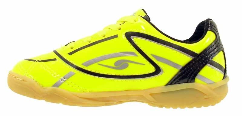 chuteira futebol infantil dalponte impact kids amarela azul. Carregando  zoom. f721fd1dec225
