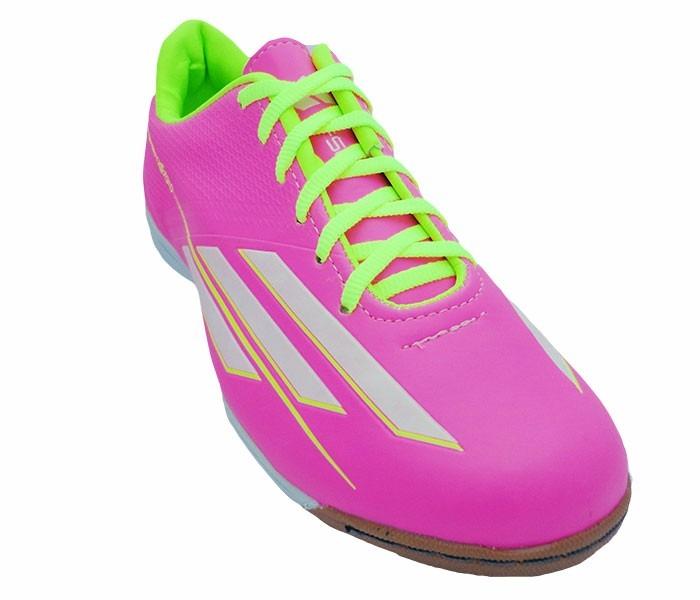 chuteira adidas rosa futsal
