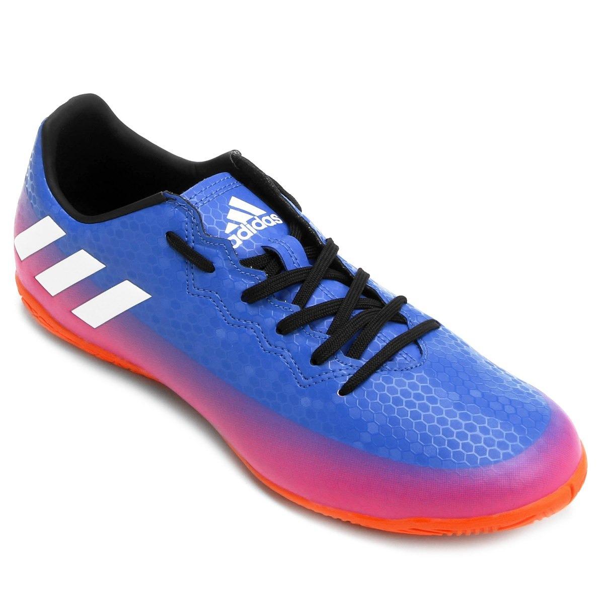 aebfd1bddbe4c chuteira futsal adidas messi 16.4 in masculino - azul/pink. Carregando zoom.