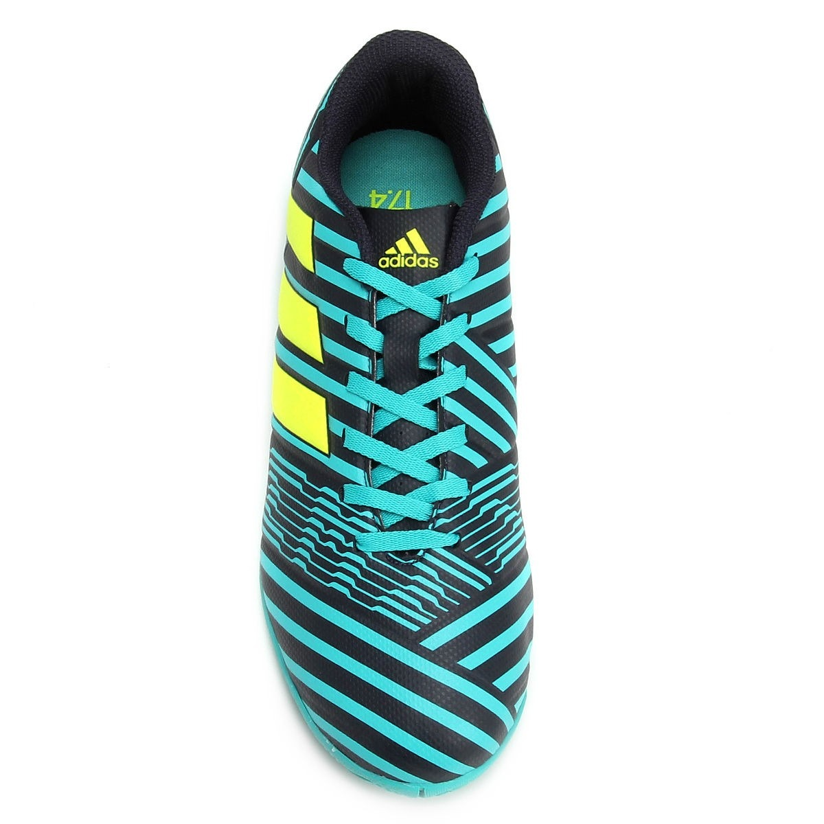 b6194e3f47 Chuteira Futsal adidas Nemeziz 17.4 In Masculino - Verde - R  259