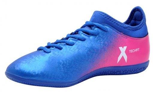 newest 1d9c1 84d50 chuteira futsal azul e rosa adidas x 16.3 in masculina