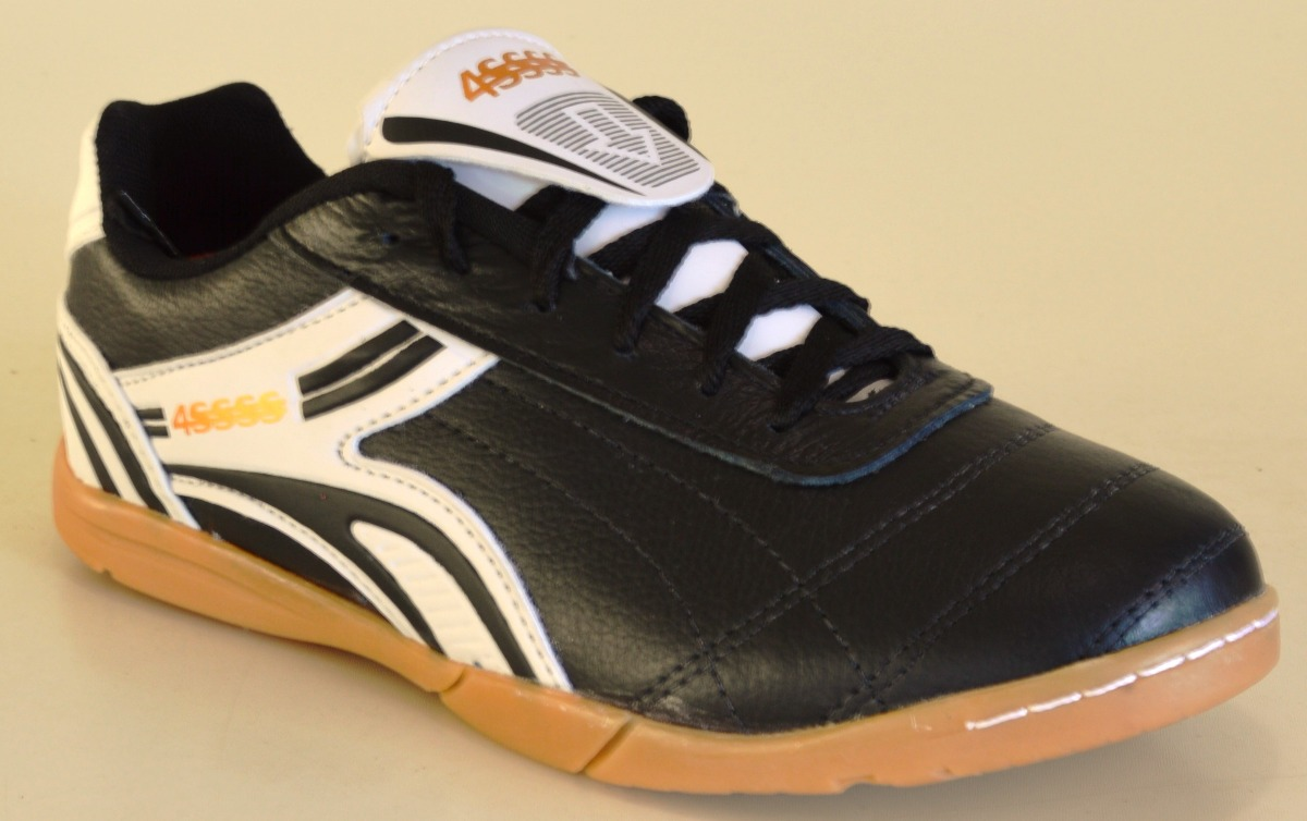 3c8b386b7ff chuteira futsal em couro futebol salao 4ssss calçados. Carregando zoom.