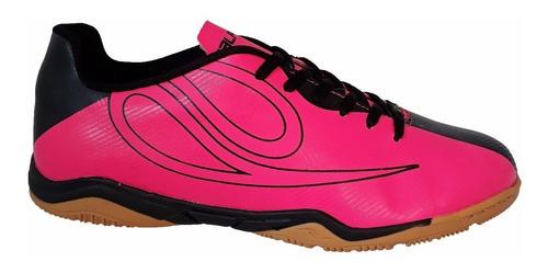 chuteira futsal feminina dalponte pink preto 8147