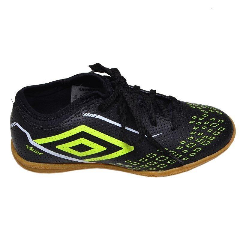 76374747a3 chuteira futsal indoor velox umbro preta e verde. Carregando zoom.