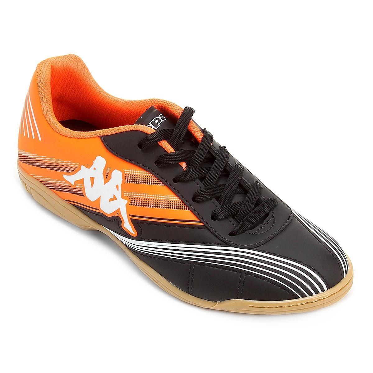 68174bbb1e chuteira futsal kappa crotone original preto e laranja. Carregando zoom.