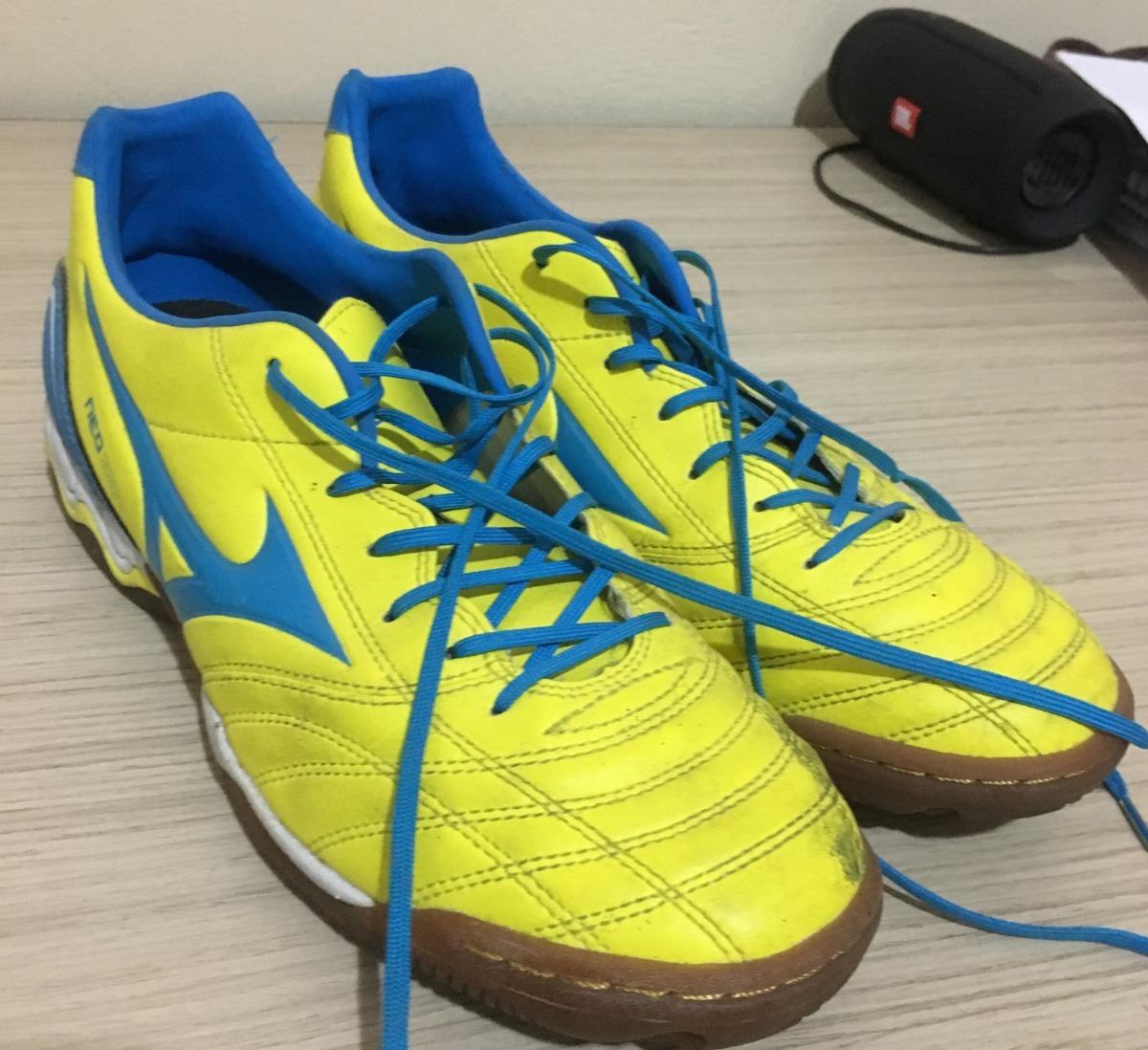 ba17f99d954b9 Chuteira Futsal Mizuno Morelia Neo Zen + Brinde Caneleira - R$ 120 .