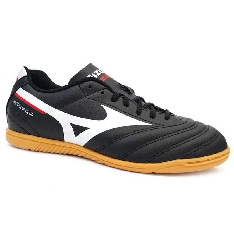 031f67777 Chuteira Futsal Morelia Club In - Mizuno - Preto branco verm - R ...