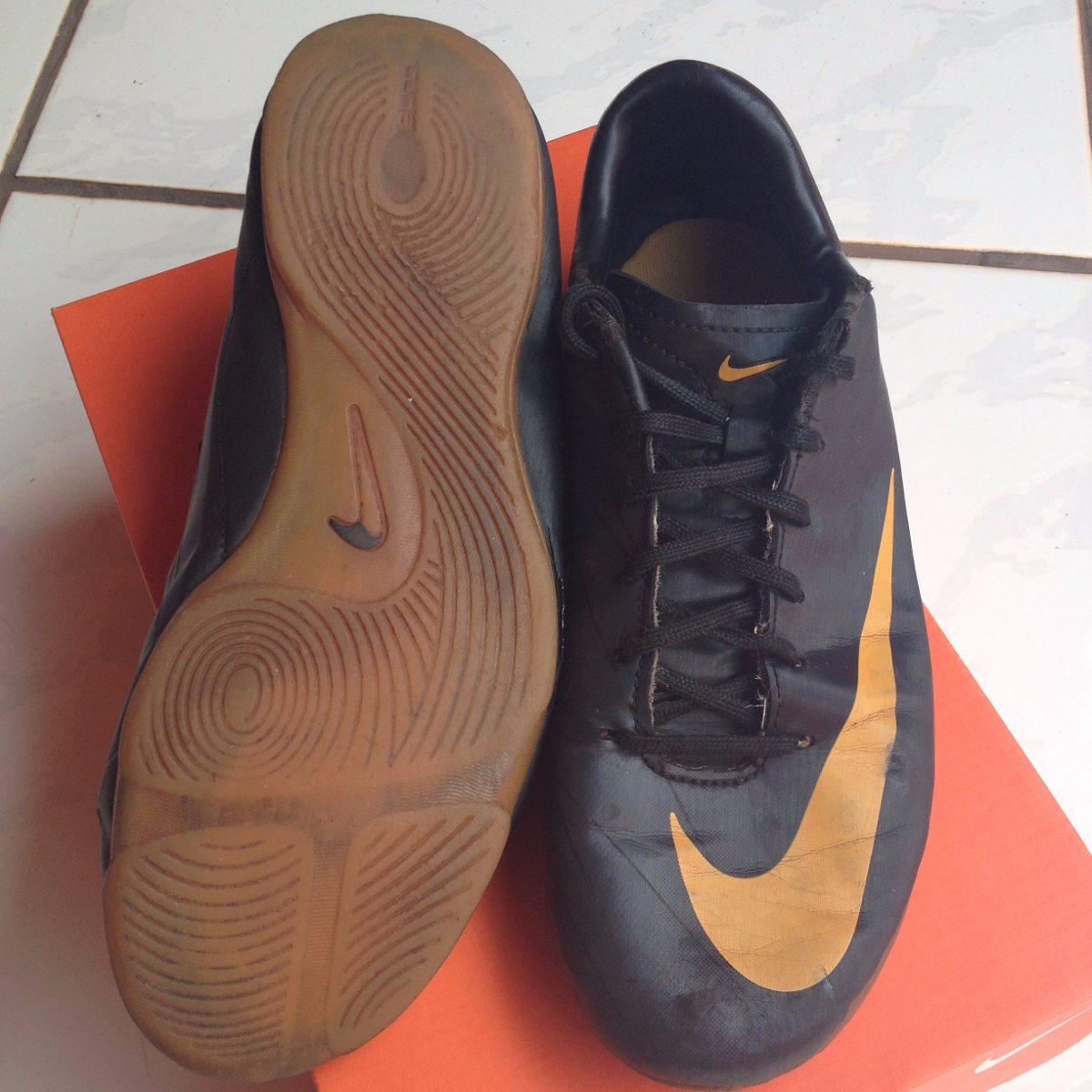 9d29ae5c128ed Chuteira Futsal Nike Mercurial Primeira Linha Preto laranja - R  32 ...