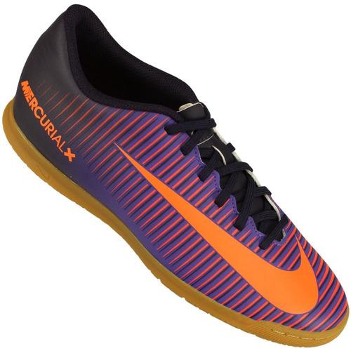 bed498d87de8e Chuteira Futsal Nike Mercurial Vortex Iii Ic Nfe Tênis Preto - R ...