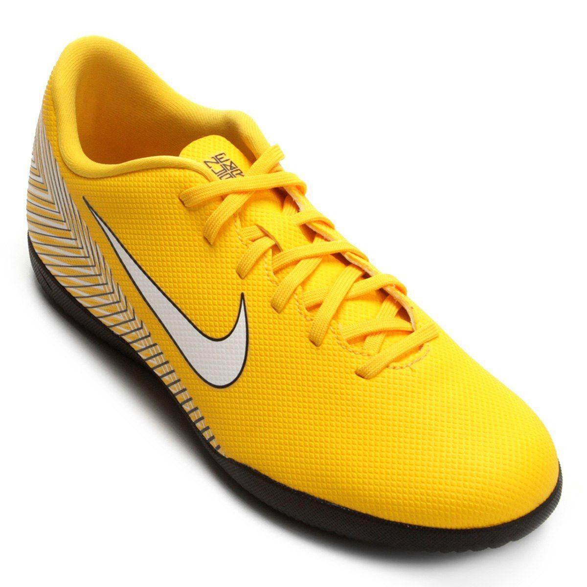 Chuteira Futsal Nike Mercurial Vpr 12 Club Infantil- Amarelo - R ... df7230df21fa4