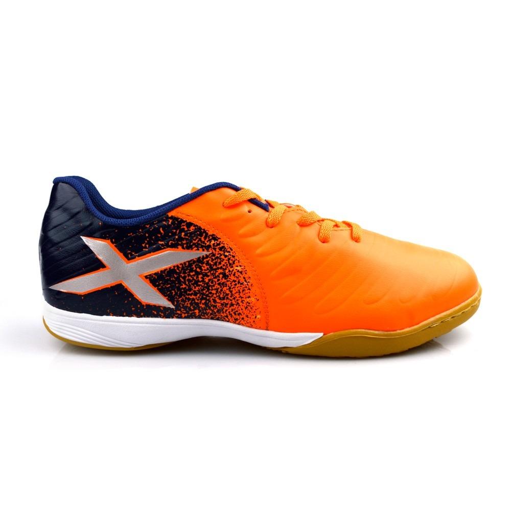 chuteira futsal oxn gênio azul laranja masculina indoor. Carregando zoom. f43c86e4a7cad