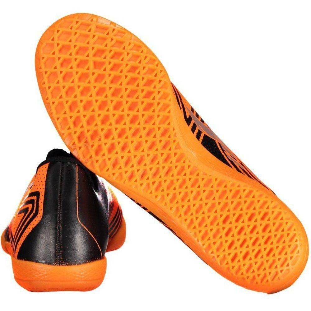 9aed5b3c16a22 chuteira futsal salão oxn mission ii laranja preto infantil. Carregando  zoom.