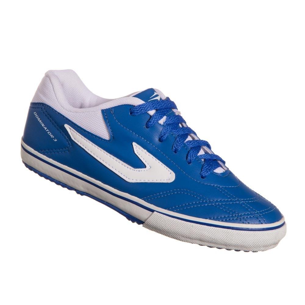 chuteira de futsal topper dominator iii azul branco. Carregando zoom. 71e0a5710e505
