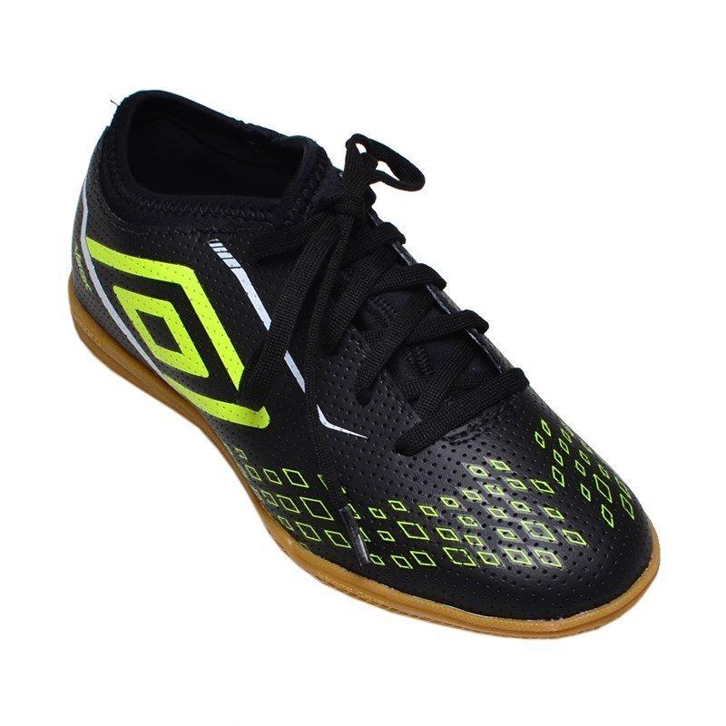 6119f86233 Chuteira Futsal Indoor Velox Umbro Preta E Verde - R  149