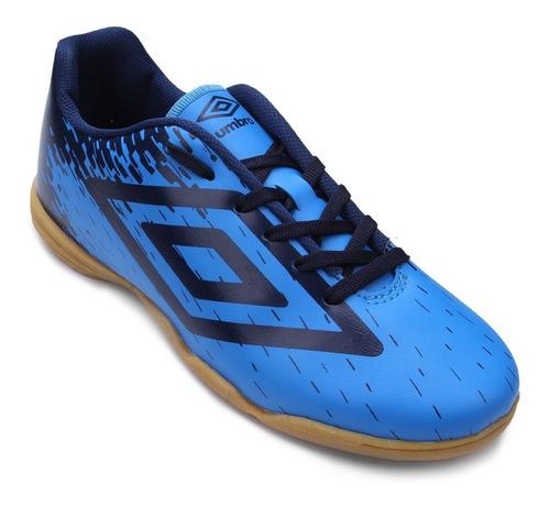 chuteira futsal umbro acid masculina - azul e marinho 800710