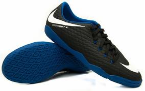 f0d35b1d48 Chuteira Futsal Hypervenonx Azul Com Branco - Chuteiras Nike no ...